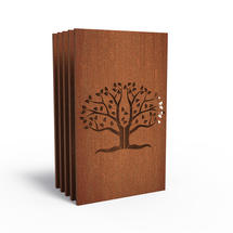 Corten Panel - Abstract Oak - Set of 5