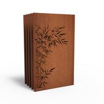 Corten Panel - Bamboo Bush - Set of 5
