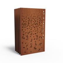 Corten Panel - Blossom - Set of 5