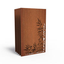 Corten Panel - Bamboo Leaves - Set of 5