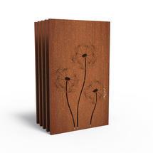 Corten Panel - Dandelions - Set of 5