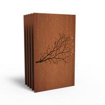 Corten Panel - Berry Twig - Set of 5