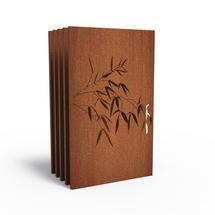 Corten Panel - Bamboo Branch - Set of 5