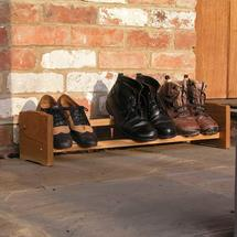 Single Stackable Oak Shoe Rack