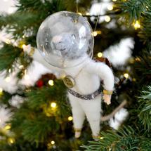 Tim Squeak White Space Suit Tree Decoration