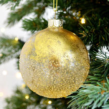 Gold Ombre Glass Bauble