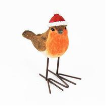 Festive Santa Robin