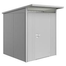 Garden Shed AvantGarde - Size A1 with Standard Door - Metallic Silver