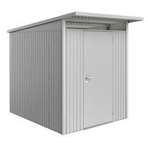 Garden Shed AvantGarde - Size A2 with Standard Door - Metallic Silver