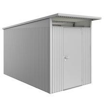 Garden Shed AvantGarde - Size A4 with Standard Door - Metallic Silver