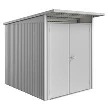 Garden Shed AvantGarde - Size A2 with Slim Double Door - Metallic Silver