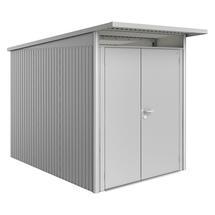 Garden Shed AvantGarde - Size A3 with Slim Double Door - Metallic Silver