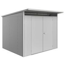 Garden Shed AvantGarde - Size A6 with Double Door - Metallic Silver