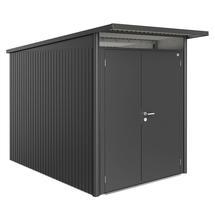 Garden Shed AvantGarde - Size A3 with Slim Double Door - Metallic Dark Grey