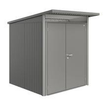 Garden Shed AvantGarde - Size A1 with Slim Double Door - Metallic Quartz Grey