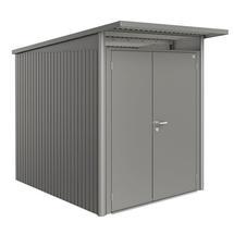 Garden Shed AvantGarde - Size A2 with Slim Double Door - Metallic Quartz Grey