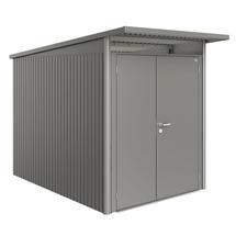Garden Shed AvantGarde - Size A3 with Slim Double Door - Metallic Quartz Grey