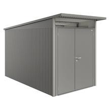 Garden Shed AvantGarde - Size A4 with Slim Double Door - Metallic Quartz Grey