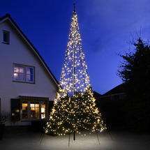 3D 6m Christmas Tree with Warm White Twinkling 1200 LEDs