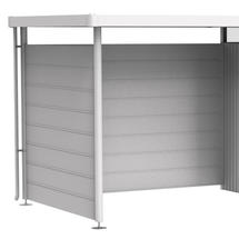 Back Wall for Side Canopy - HighLine Shed - Sizes H2-H5 - Metallic Silver