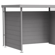 Back Wall for Side Canopy - HighLine Shed - Sizes H2-H5 - Metallic Quartz Grey