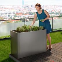 Belvedere Planting Bed - Small - Metallic Dark Grey