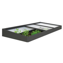 Cold Frame Extension for Raised Vegetable Bed - 2x1m - Metallic Dark Grey