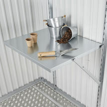 Fold Away Table for Garden Sheds and Equipment Locker