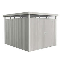 Garden shed HighLine size H5 with standard door- Metallic silver