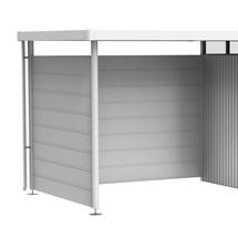 Side wall for side canopy for Garden shed HighLine H3 metallic silver