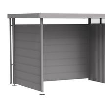 Side wall for side canopy for Garden shed HighLine H3 metallic quartz grey