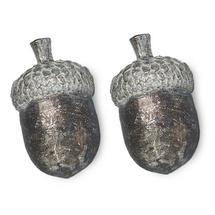 Silver Acorn Curio - Set of 2