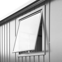 Window unit for Europa metallic silver