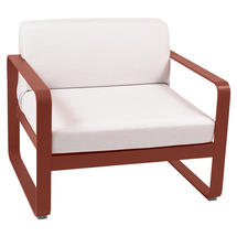 Bellevie Outdoor Armchair - Red Ochre/Off White