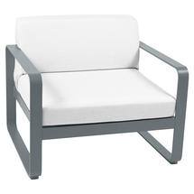 Bellevie Outdoor Armchair - Storm Grey/Off White