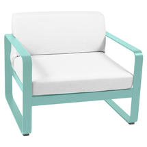 Bellevie Outdoor Armchair - Lagoon Blue/Off White