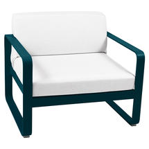 Bellevie Outdoor Armchair - Acapulco Blue/Off White