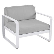 Bellevie Outdoor Armchair - Cotton White/Flannel Grey