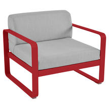 Bellevie Outdoor Armchair - Poppy/Flannel Grey