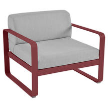 Bellevie Outdoor Armchair - Chilli/Flannel Grey