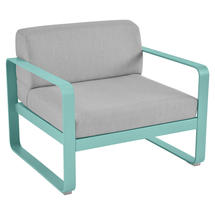 Bellevie Outdoor Armchair - Lagoon Blue/Flannel Grey