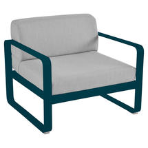 Bellevie Outdoor Armchair - Acapulco Blue/Flannel Grey