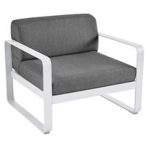 Bellevie Outdoor Armchair - Cotton White/Graphite Grey