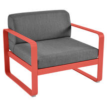 Bellevie Outdoor Armchair - Capucine/Graphite Grey