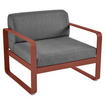 Bellevie Outdoor Armchair - Red Ochre/Graphite Grey