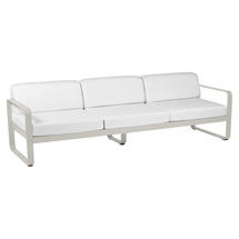 Bellevie Outdoor 3 Seater Sofa - Clay Grey/Off White
