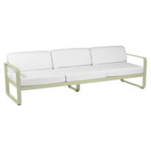 Bellevie Outdoor 3 Seater Sofa - Willow Green/Off White