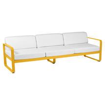 Bellevie Outdoor 3 Seater Sofa - Honey/Off White