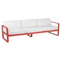 Bellevie Outdoor 3 Seater Sofa - Capucine/Off White
