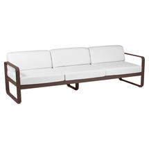 Bellevie Outdoor 3 Seater Sofa - Russet/Off White